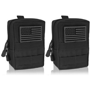 2 Pack Tactical EDC Pouch Organizer/US Patches